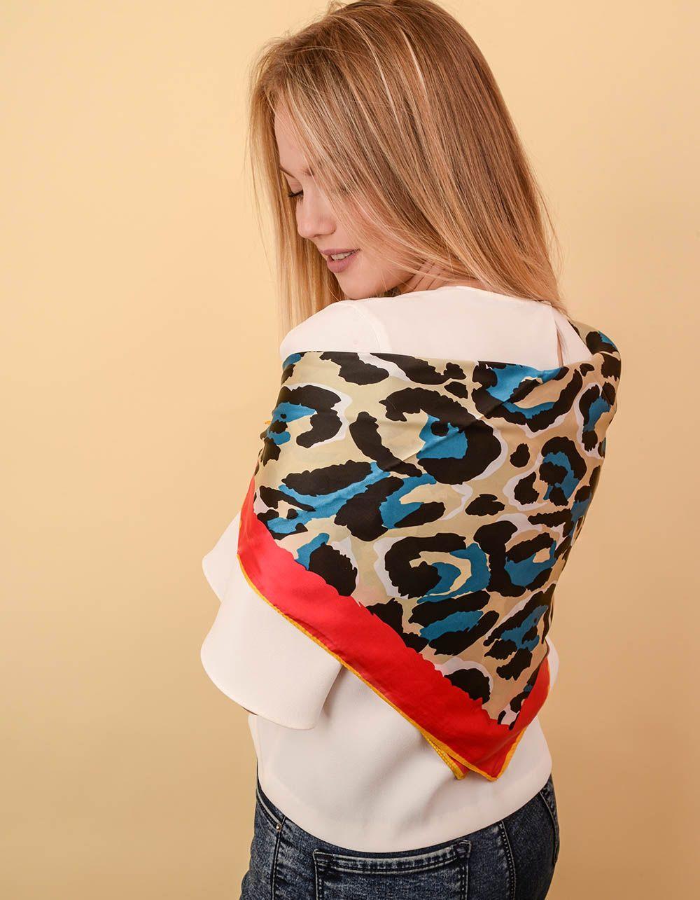Хустка з леопардовим принтом   238626-21-XX