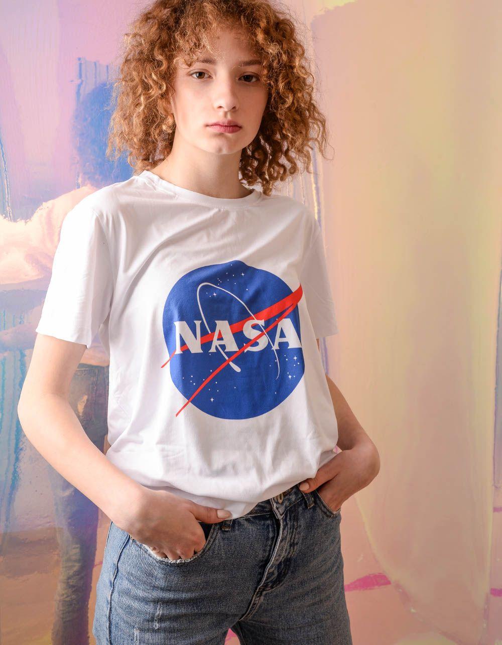 Футболка з написом NASA | 240478-01-21