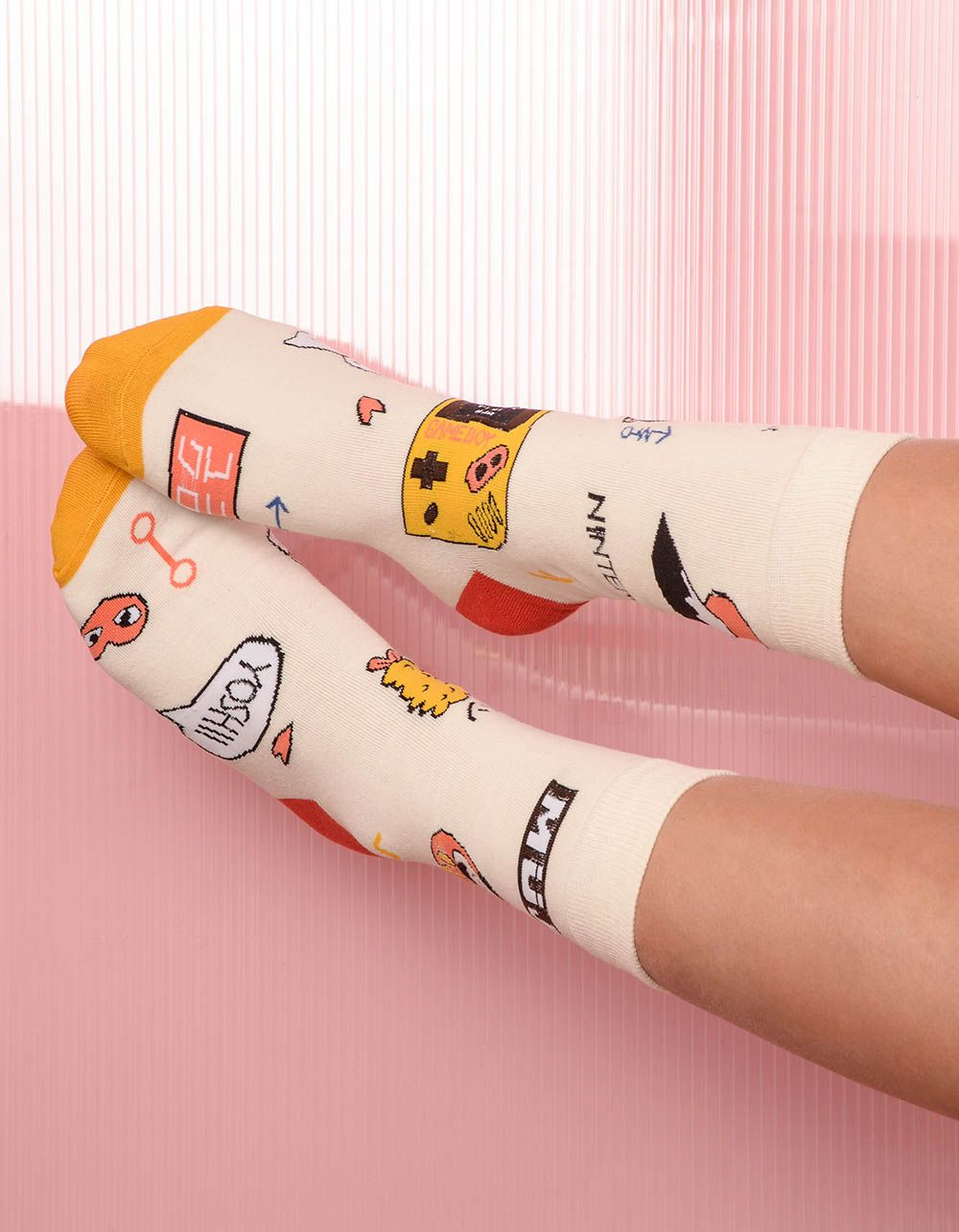 Шкарпетки з молодіжним принтом | 238527-01-XX