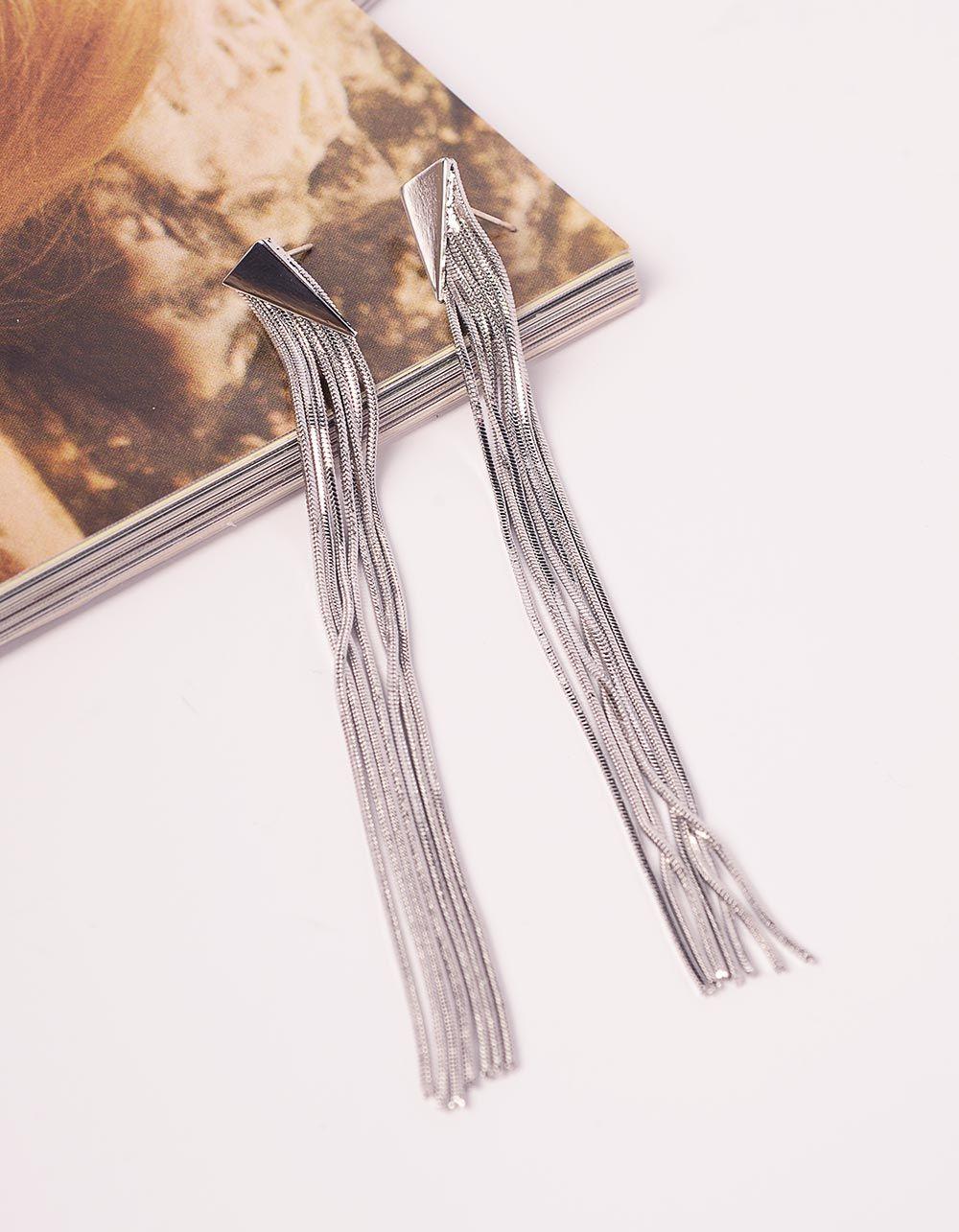 Сережки довгі з ланцюжків   240803-05-XX