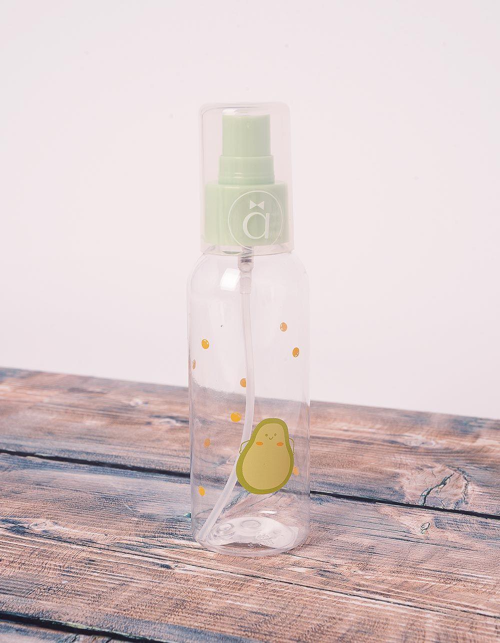 Пляшечка контейнер для подорожей на 100мл з принтом авокадо | 239701-37-XX