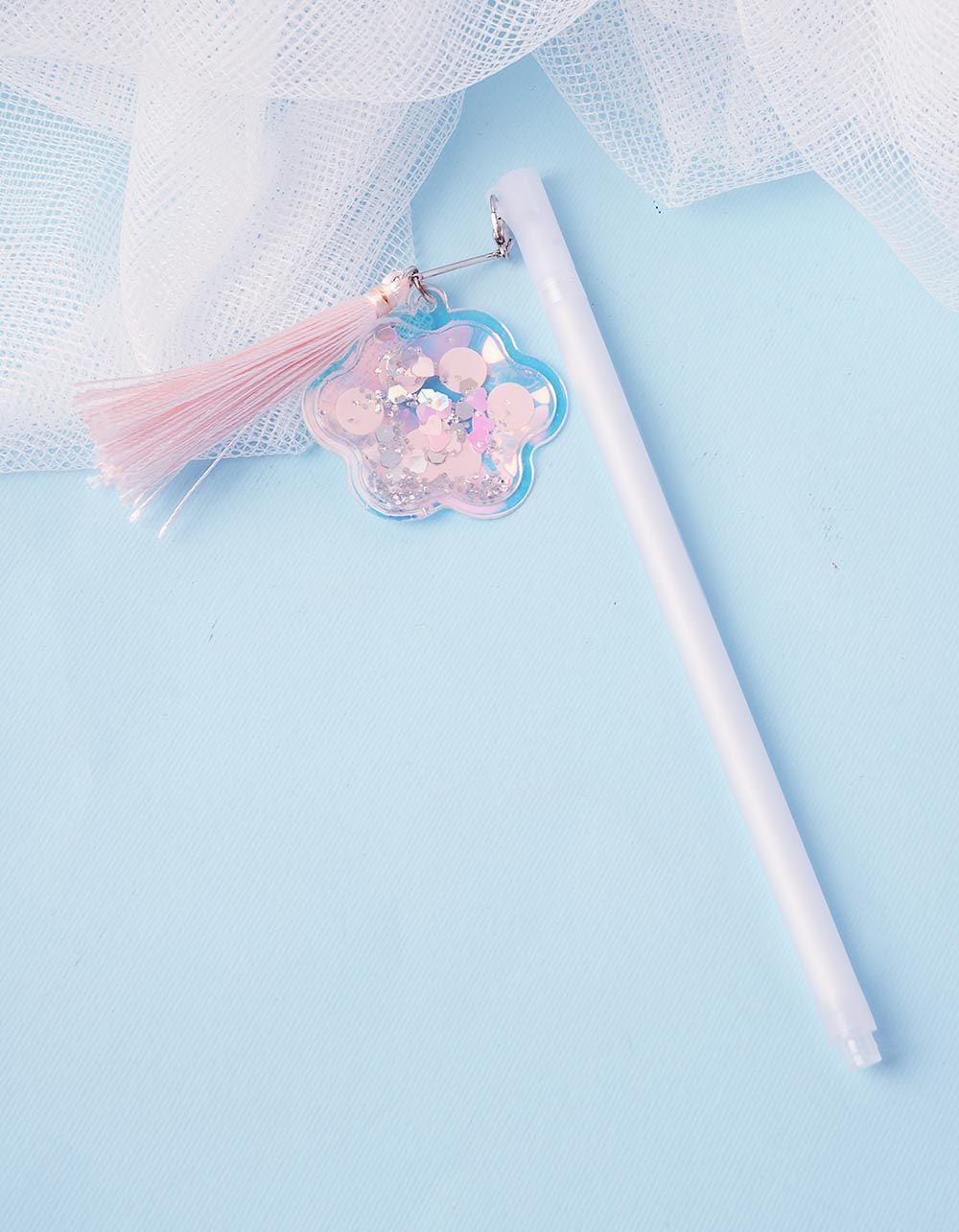 Ручка з китицею та квіткою | 237459-01-XX