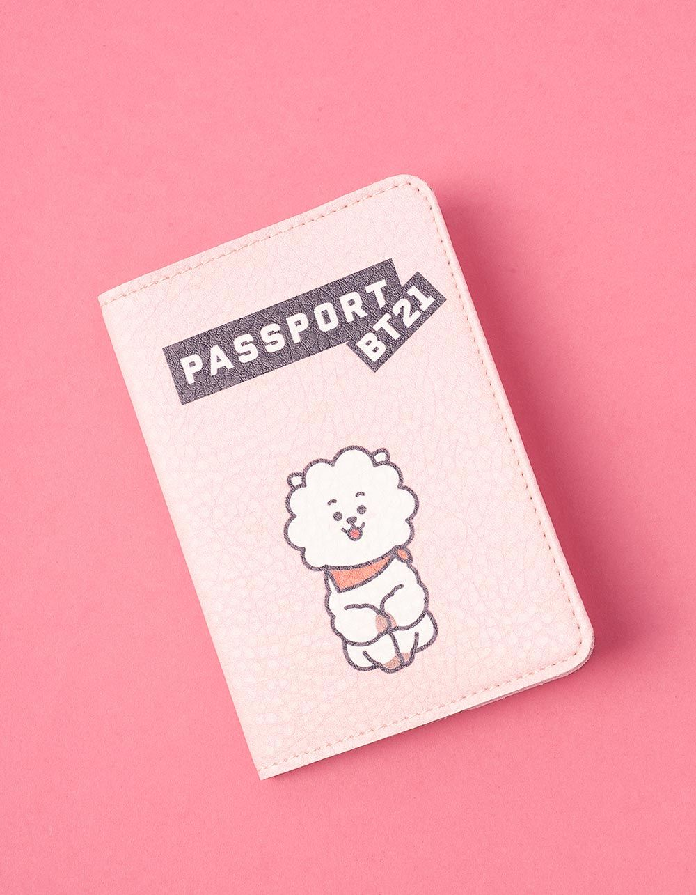 Обкладинка на паспорт з принтом RJ  Джин bts bt21 | 237246-14-XX