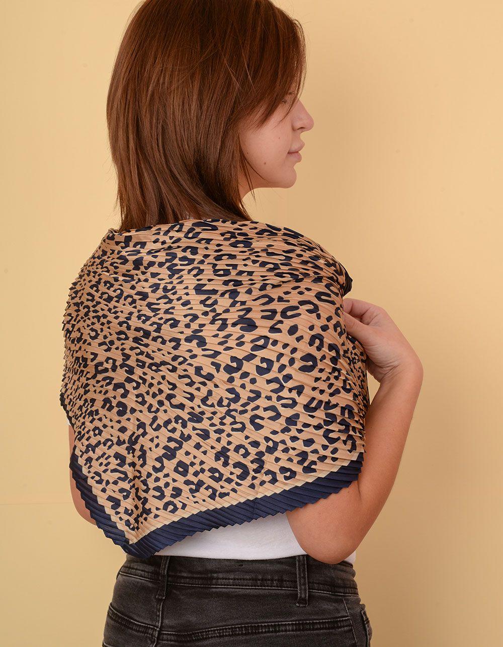 Хустка на шию з леопардовим принтом   238622-39-XX