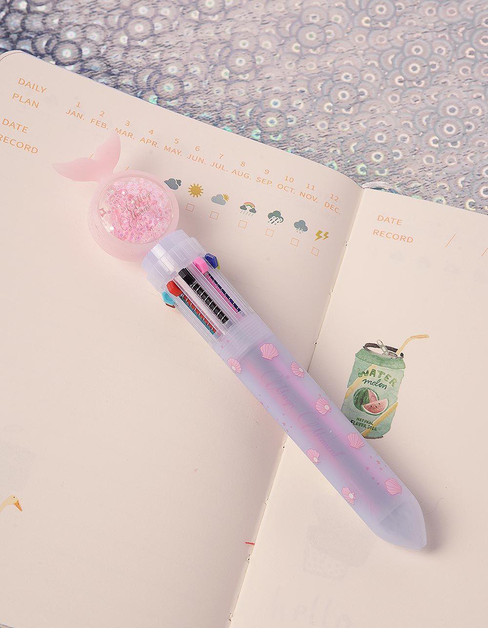 Ручка з різними кольорами та хвостом русалки з намистинами | 239099-14-XX