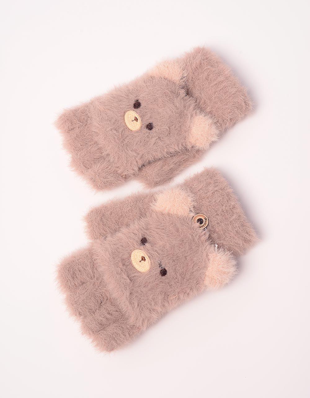 Рукавички мітенки з ведмедиками | 238103-12-XX