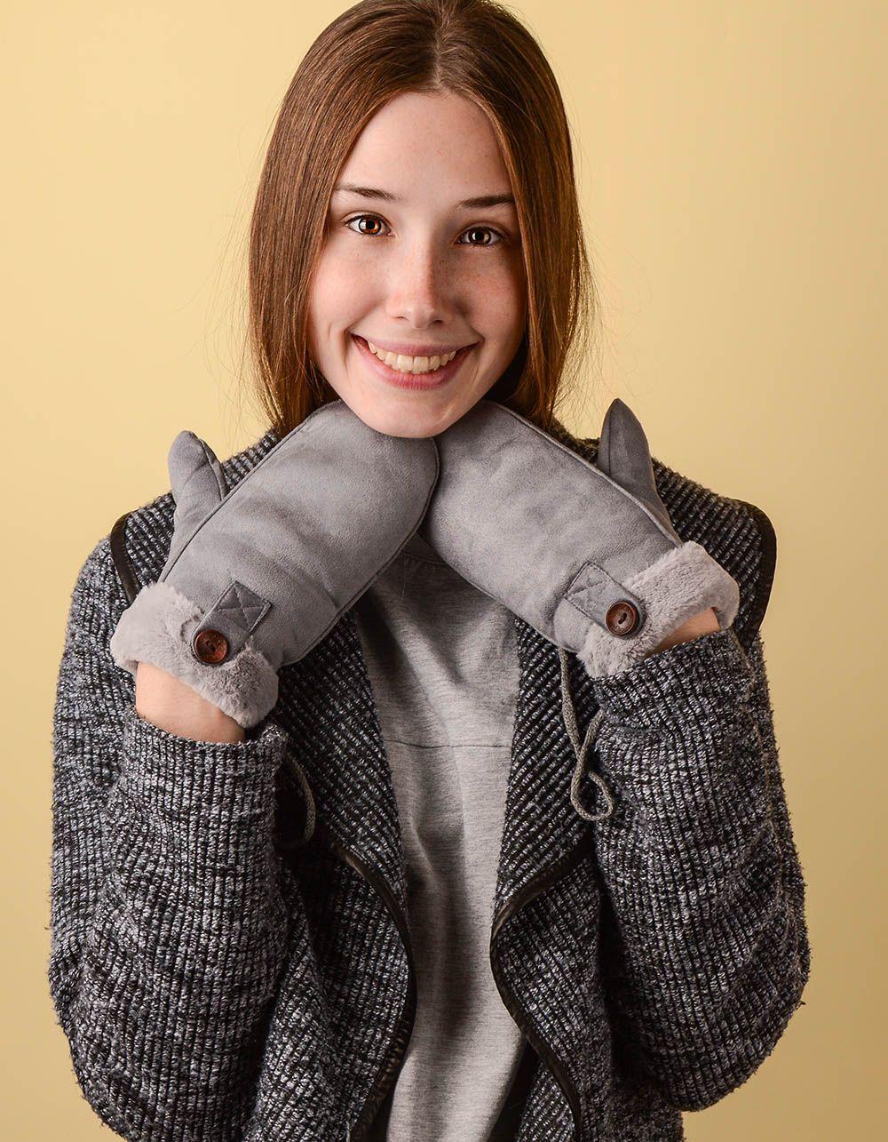 Рукавиці теплі з гудзиком | 238473-11-XX