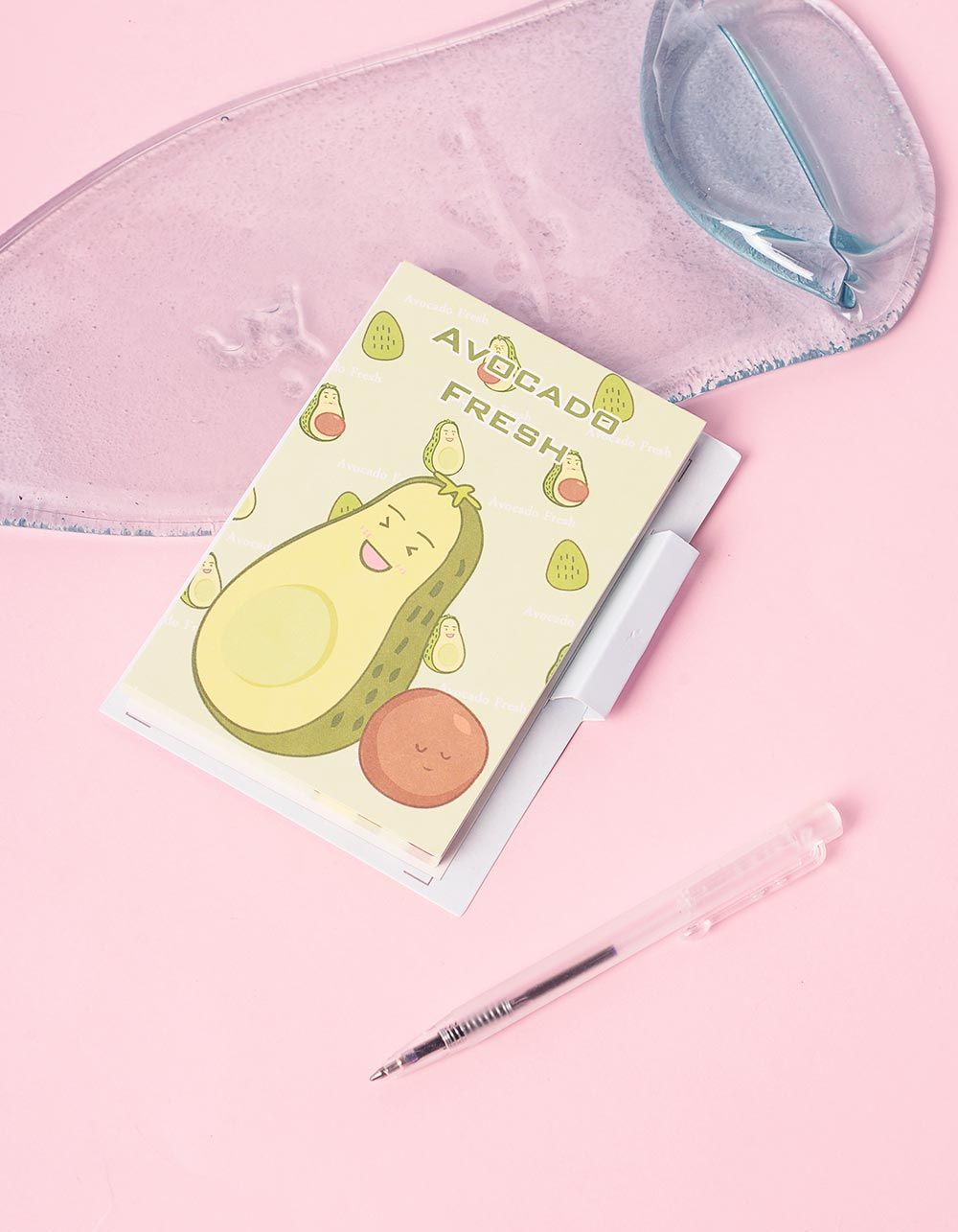 Блокнот із принтом авокадо у комплекті з ручкою | 239930-19-XX