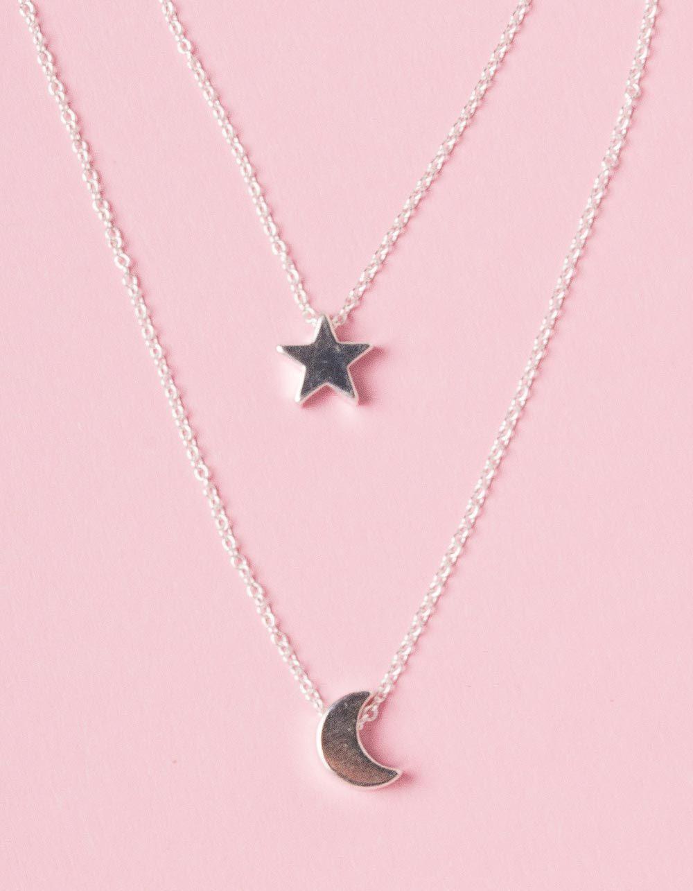 Підвіска на шию подвійна з місяцем та зіркою | 226755-05-XX