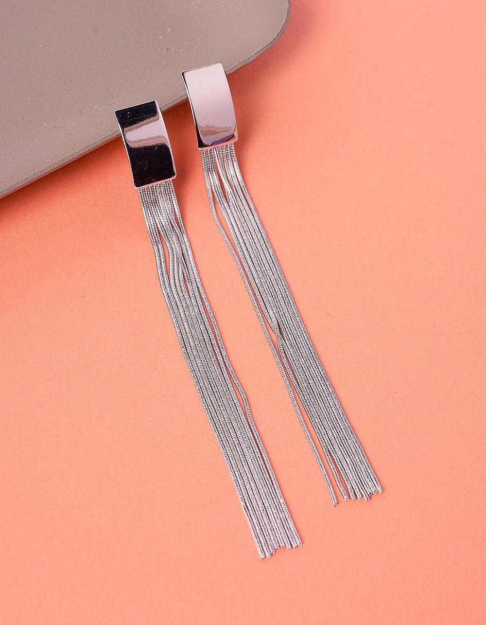 Сережки довгі з ланцюжками | 235979-05-XX
