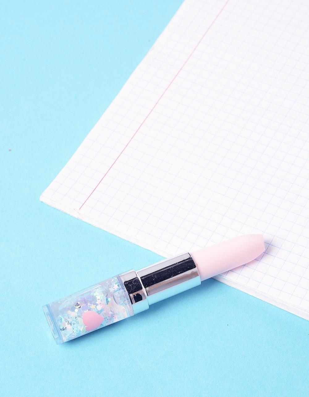 Ручка у вигляді помади з серцями та зірочками | 237003-44-XX