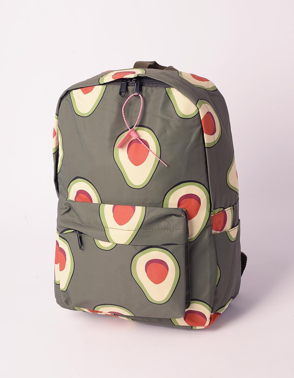 Рюкзак молодіжний з принтом авокадо | 240219-20-XX