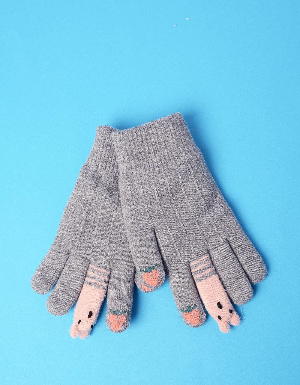 Рукавички з полуницею та звірятками на пальцях | 235297-11-XX
