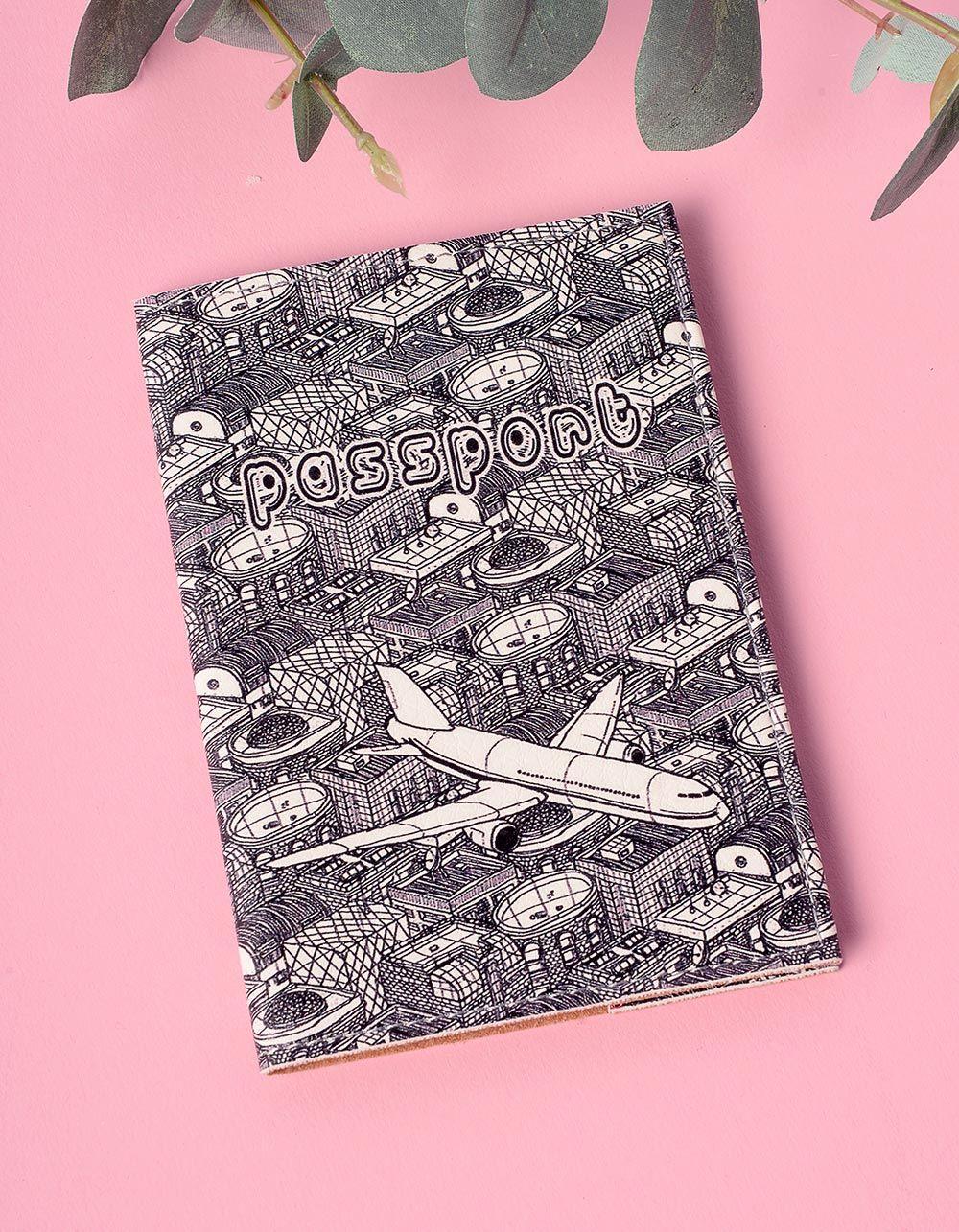 Обкладинка на паспорт з принтом літака   201215-21-XX