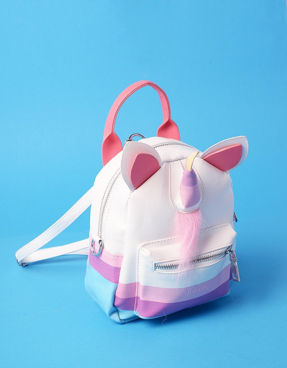 Рюкзак трансформер міні у вигляді єдинорога з вушками   235896-18-XX