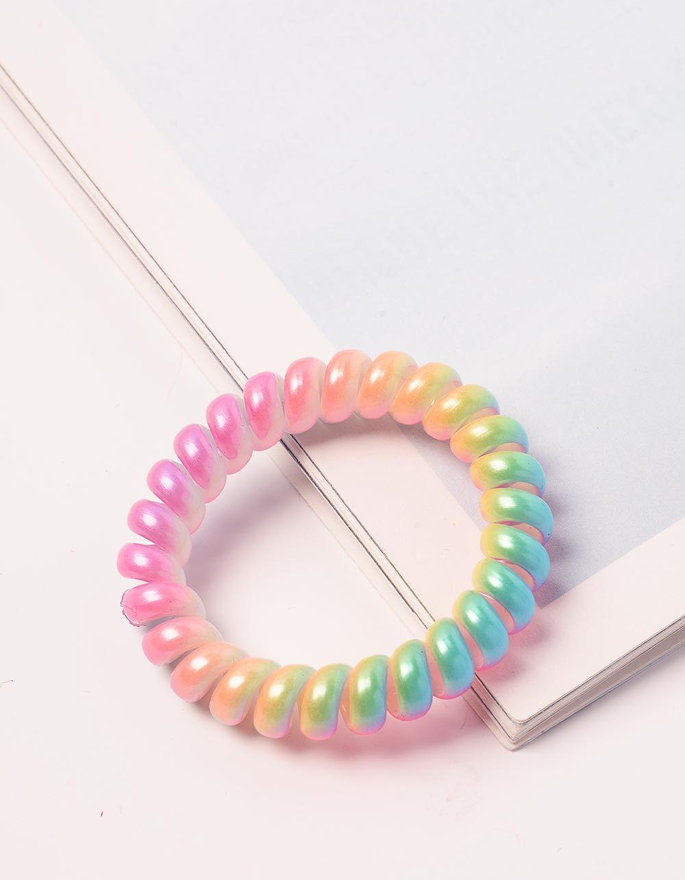 Резинка для волосся спіральна кольорова | 238946-21-XX