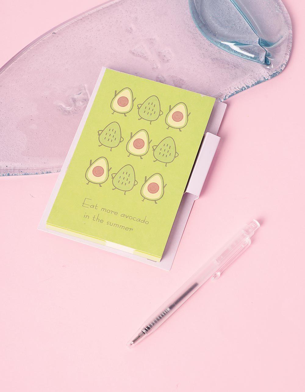 Блокнот із принтом авокадо у комплекті з ручкою | 239930-81-XX