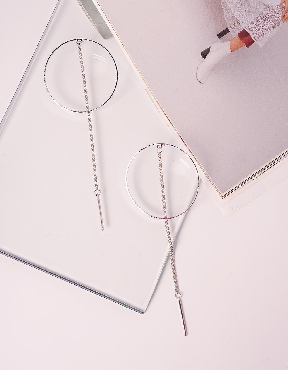 Сережки довгі у вигляді кілець з ланцюжками | 240074-05-XX
