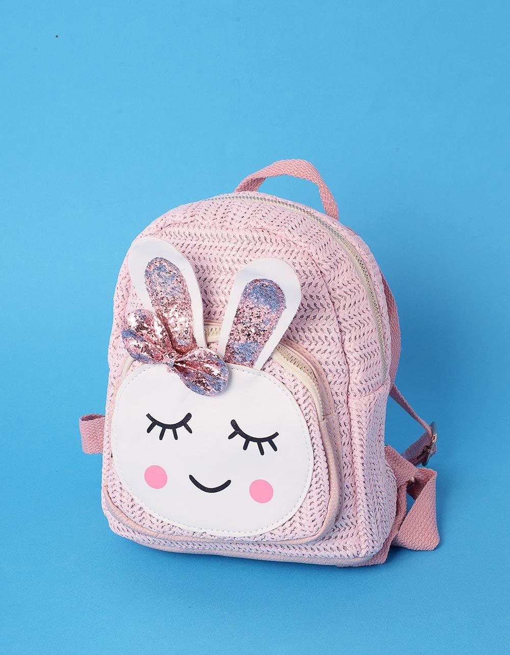 Рюкзак невеликий плетений з зайчиком | 239319-14-XX
