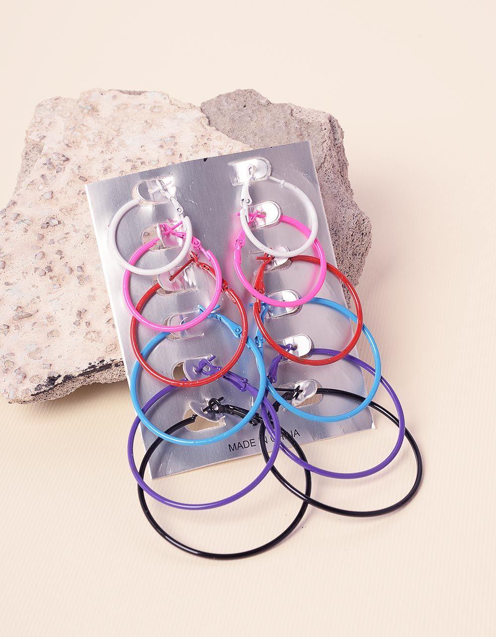 Сережки кільця в наборі | 232646-21-XX