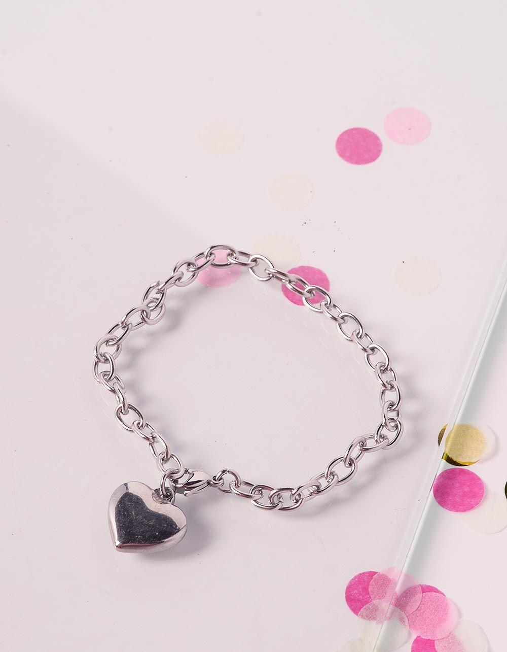 Браслет на руку із ланцюга з кулоном у вигляді серця | 239798-05-XX