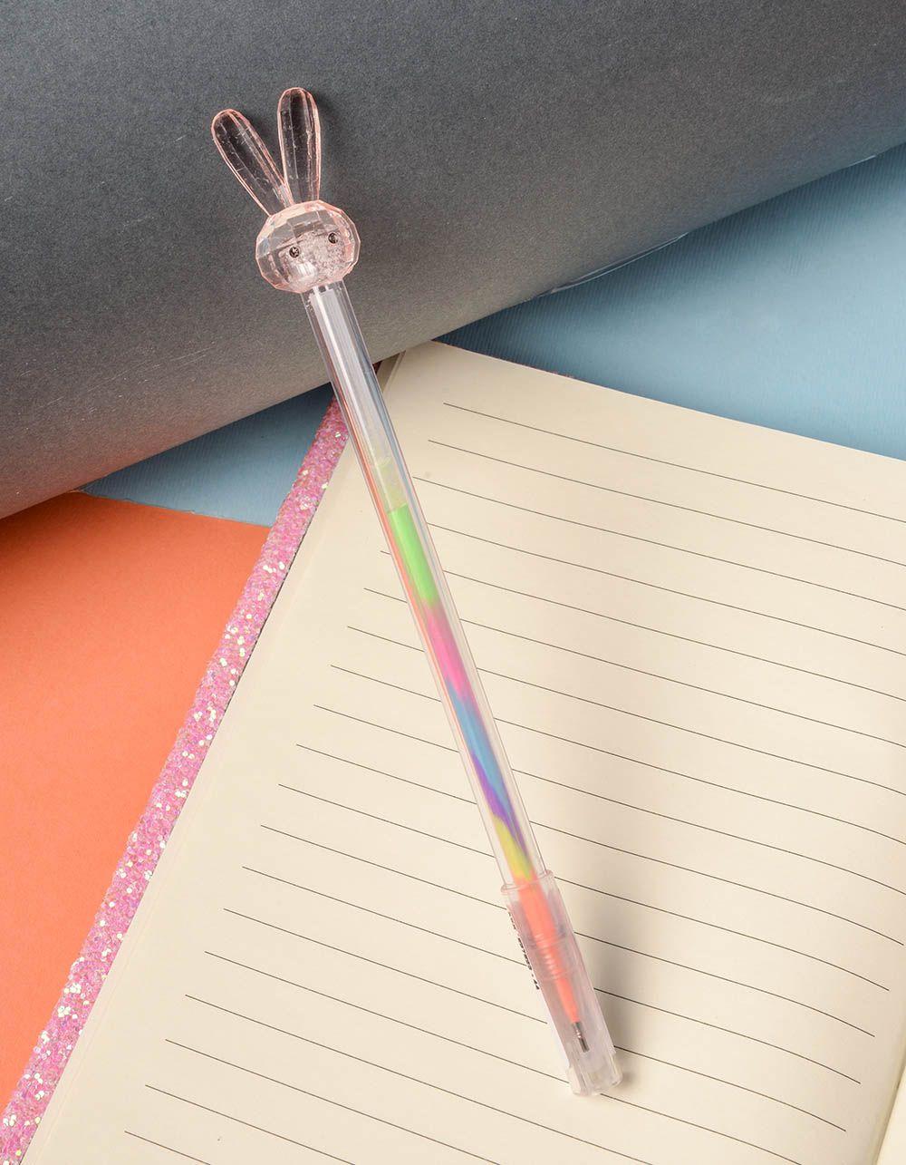 Ручка з кольоровою пастою та зайчиком на кінці | 237823-44-XX