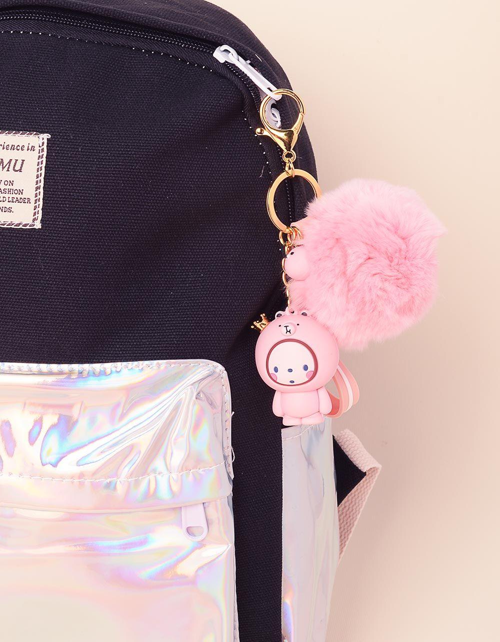 Брелок на сумку у вигляді малюка з хутряною кулькою | 237715-14-XX