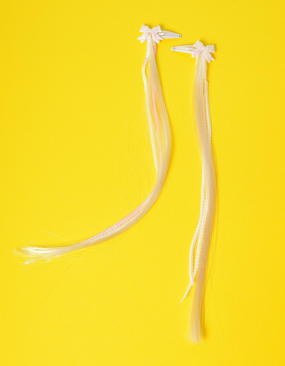 Шпильки для волосся з прядкою та бантом | 234375-01-XX