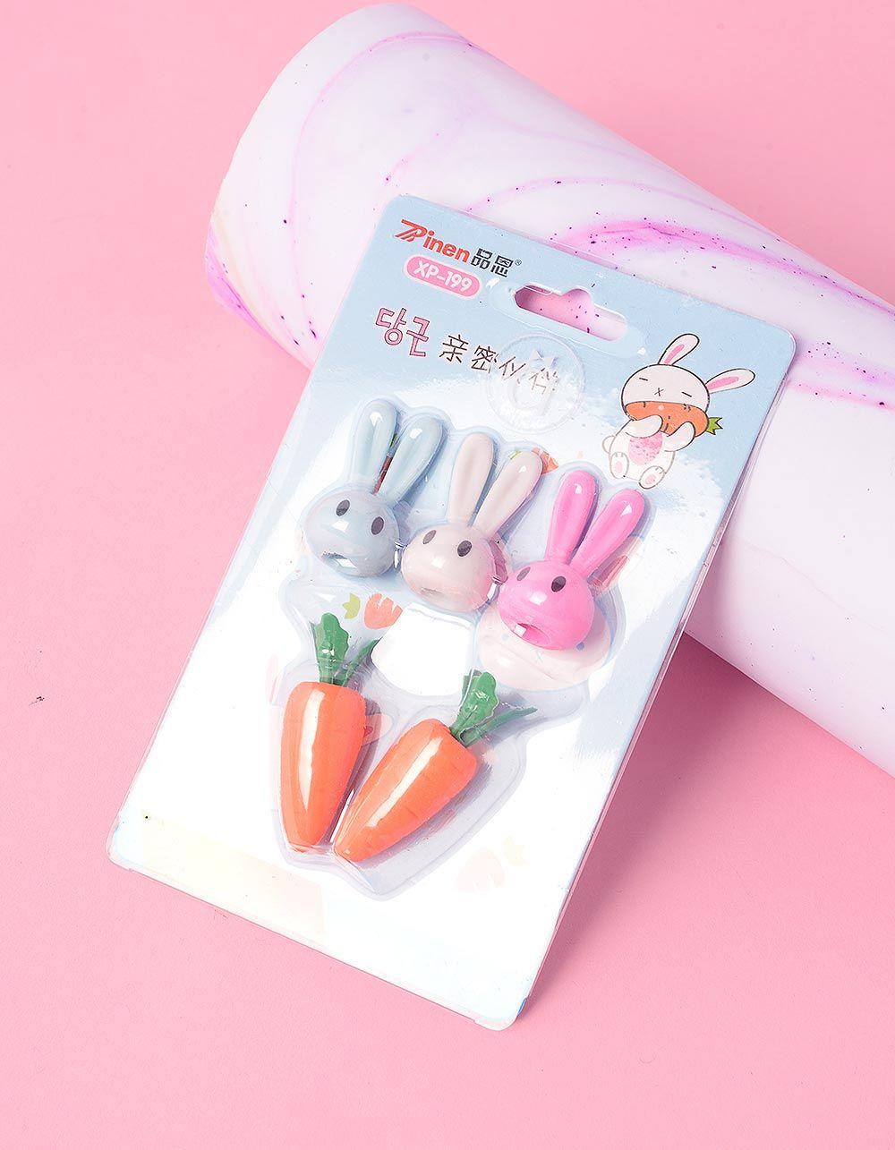 Гумка у вигляді кролика та моркви у наборі   237189-21-XX