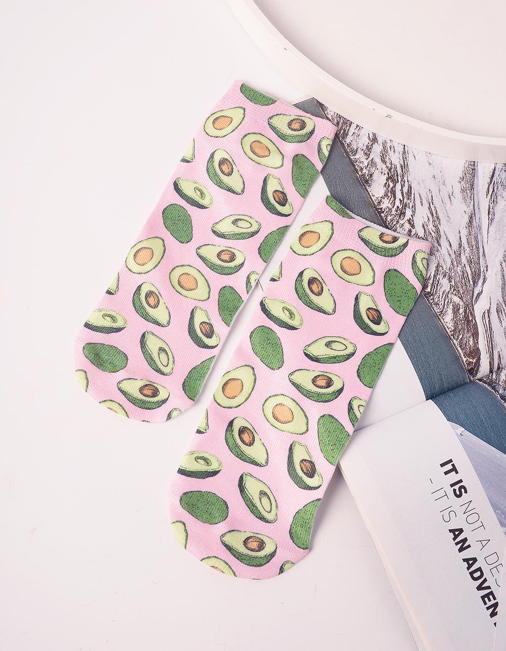 Шкарпетки з принтом авокадо | 240691-14-XX