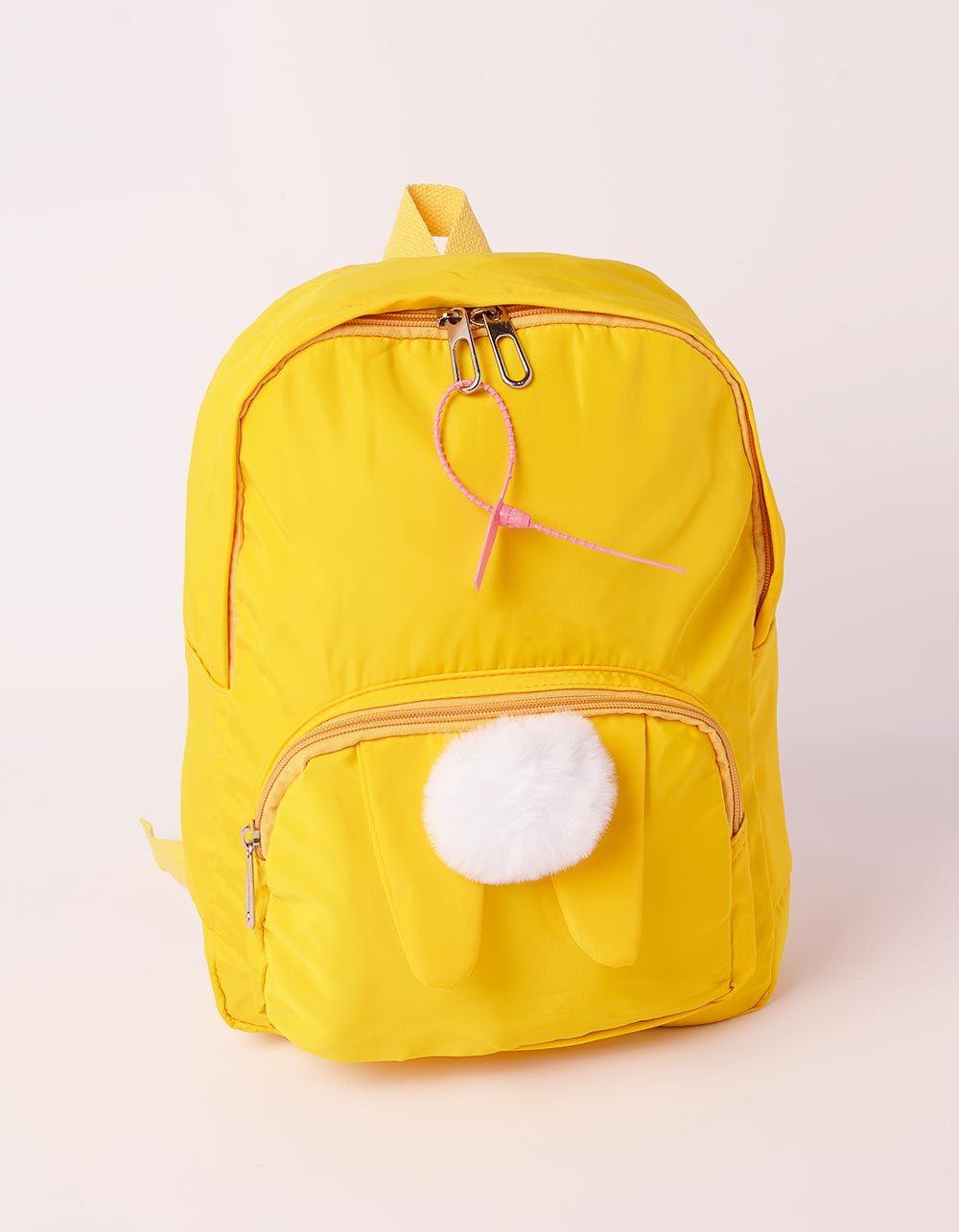 Рюкзак молодіжний  з вушками та помпоном на кишені | 238709-19-XX