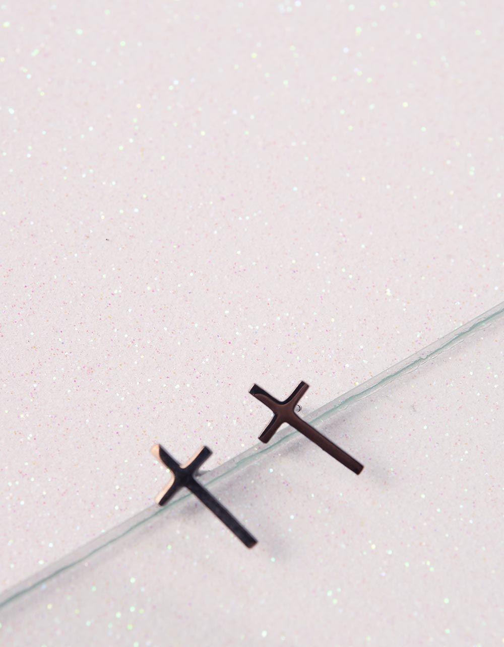 Сережки пусети з хрестами | 240284-02-XX