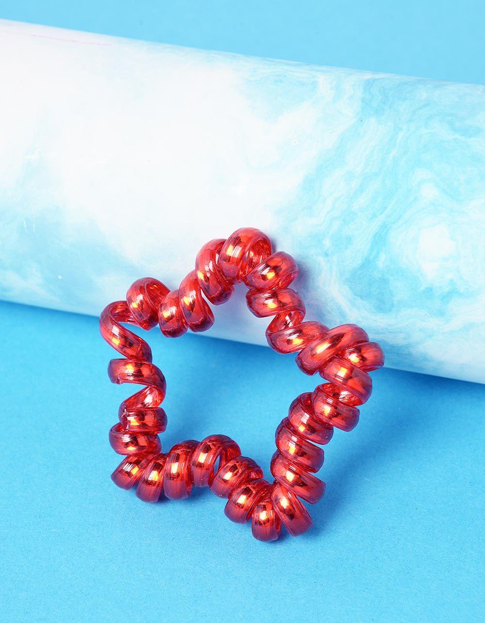 Резинка для волосся спіральна у вигляді зірочки | 237352-15-XX