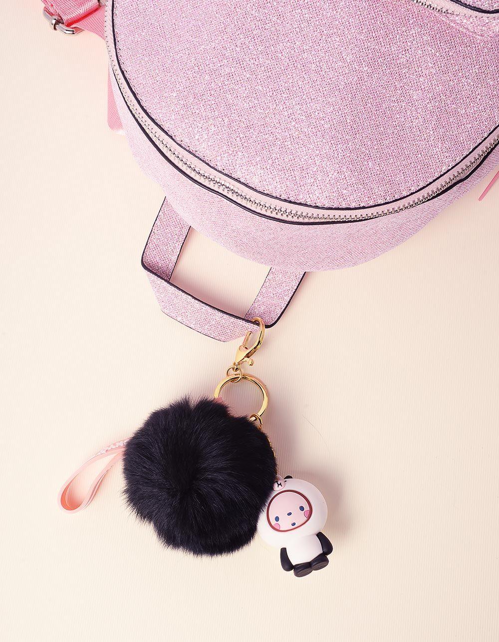 Брелок на сумку у вигляді малюка з хутряною кулькою | 237715-02-XX