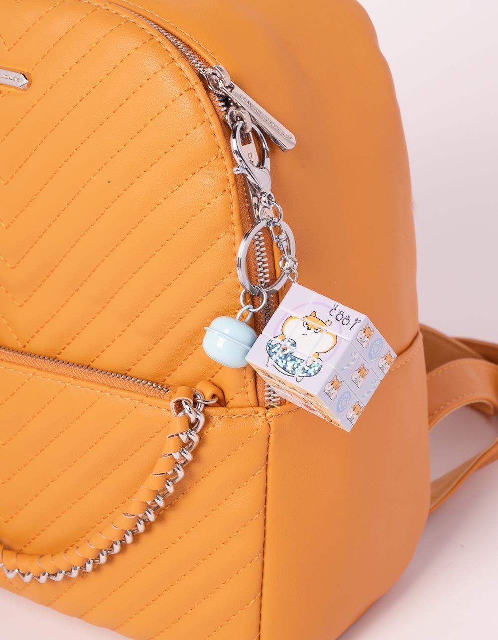 Брелок на сумку кубік рубіка з молодіжними малюнками | 239183-21-XX