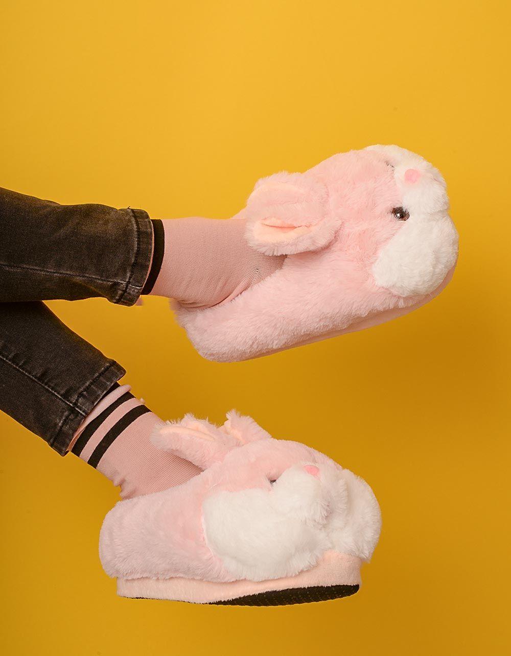 Капці кімнатні з зайцями | 235025-14-08