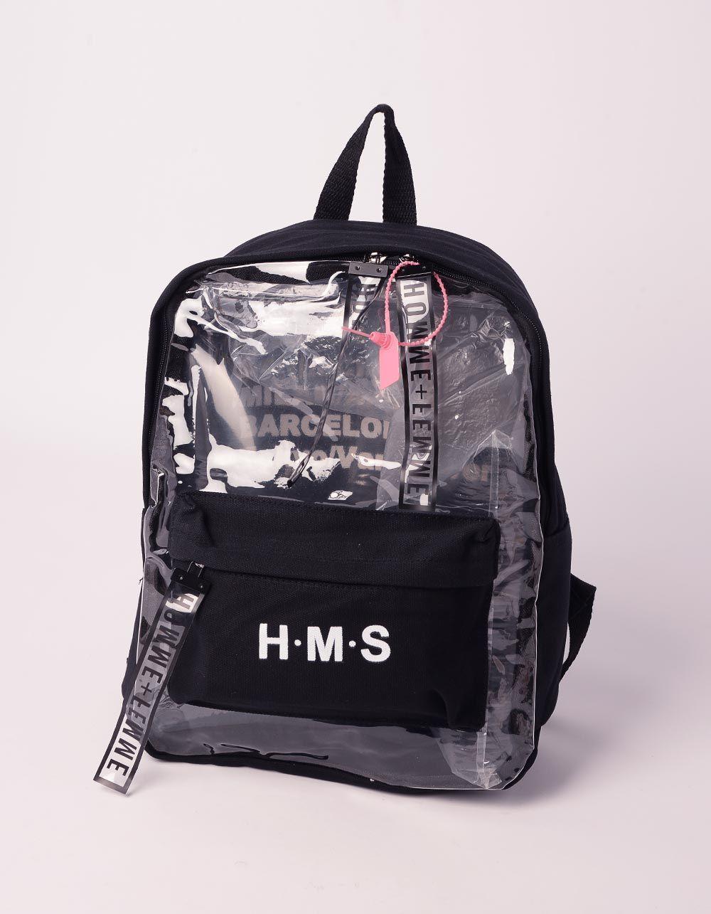 Рюкзак для міста з написом напівпрозорий | 239342-02-XX