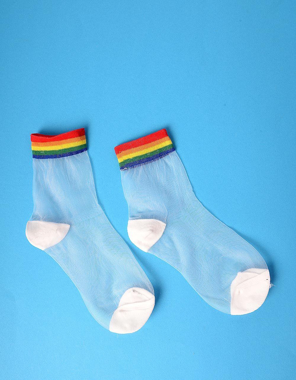 Шкарпетки прозорі зі смужками   235273-21-XX