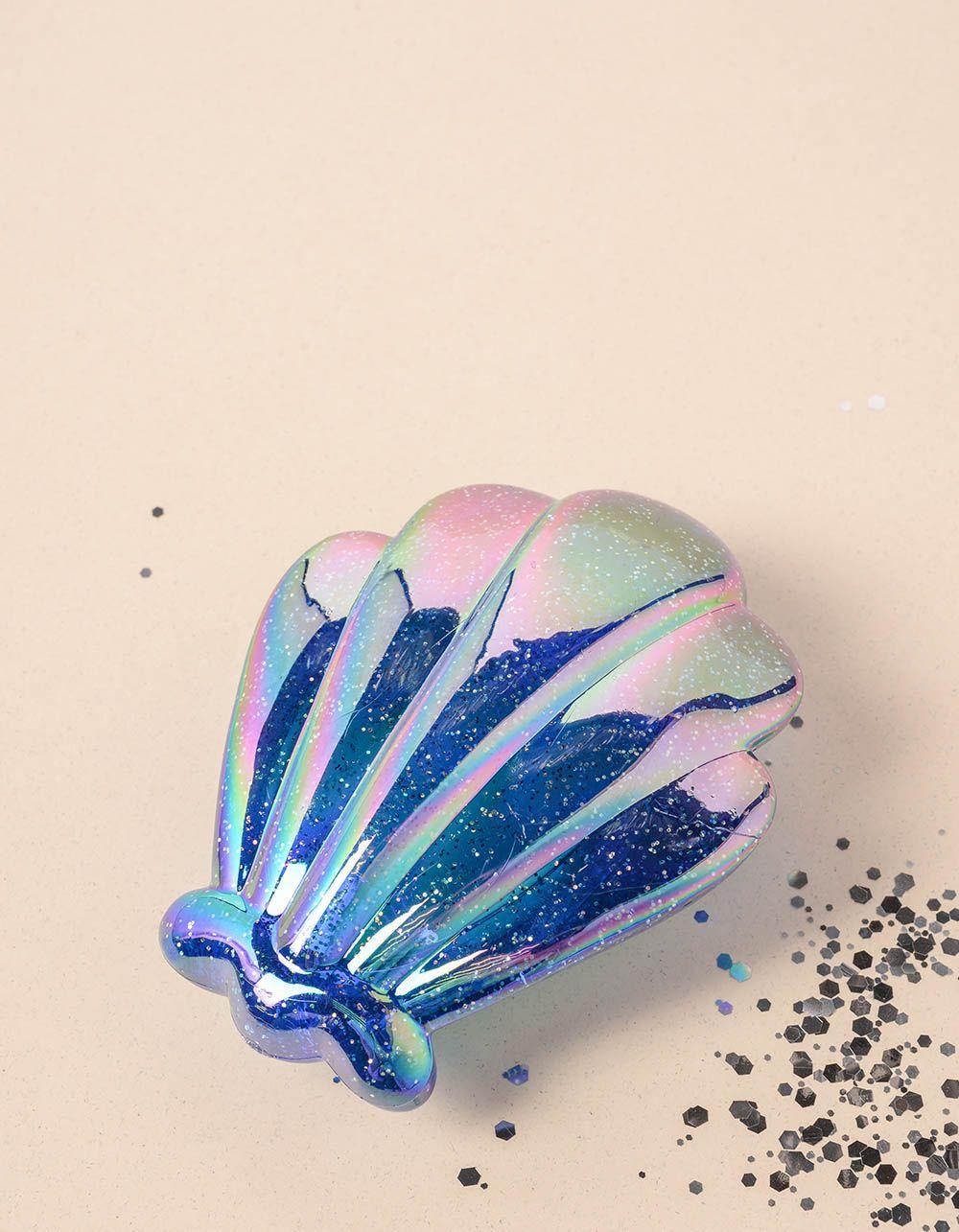 Гребінець у вигляді мушлі з глітером | 235635-13-XX
