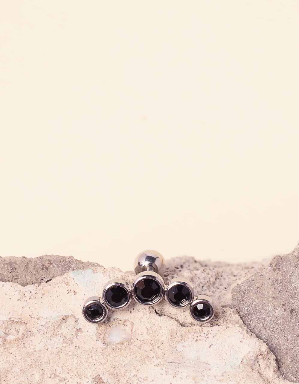 Сережка для пірсингу зі стразами | 234709-07-XX