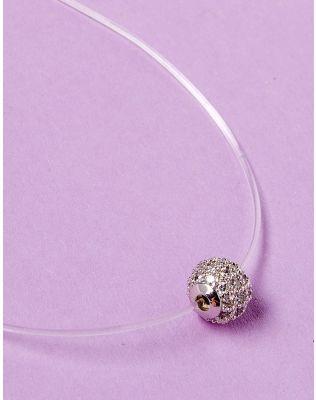 Підвіска з волосіні з кулоном у вигляді кульки з камінцями | 229098-05-XX
