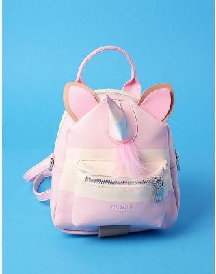 Рюкзак трансформер міні у вигляді єдинорога з вушками | 235896-14-XX