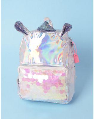 Рюкзак голографічний у вигляді єдинорога з блискітками   237657-05-XX