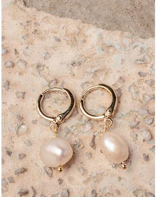 Сережки кільця маленькі з перлинами | 237616-08-XX