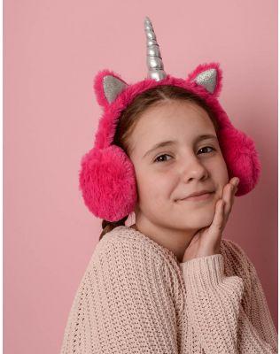 Навушники хутряні дитячі у вигляді єдинорога | 236377-17-XX