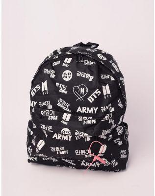 Ркзак молодіжний з тканини  BTS ARMY | 237556-02-XX