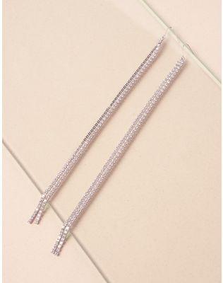 Сережки довгі з камінцями | 239904-05-XX