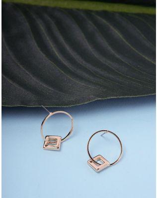 Сережки кільця з підвіскою | 235913-04-XX