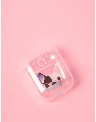 Чохол для навушників прозорий з молодіжним принтом | 238056-02-XX