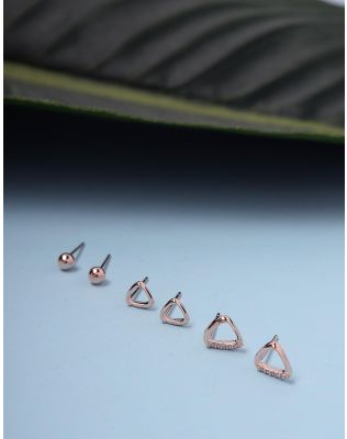 Сережки пусети в наборі з 6 шт   235917-04-XX
